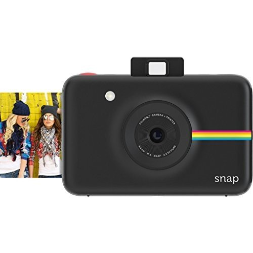 Polaroid Digitale Instant Snap Kamera mit ZINK Zero Ink Technologie, Schwarz - Digital-film-kamera