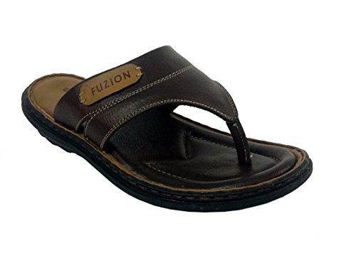 Fuzion Men's Brown Slipper - 7 UK  available at amazon for Rs.499