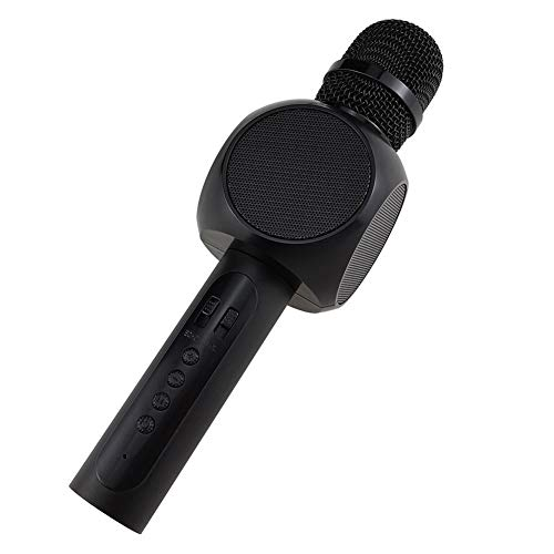 krofon, kabelloses Karaoke mit Lautsprecherverstärker Tragbares Telefonmikrofon zum Singen zu jeder Zeit und überall ( Color : Black ) ()