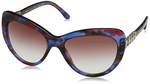 Bulgari Damen 0Bv8143B 53398H 55 Sonnenbrille, Blau (Blute/Red/Viola),