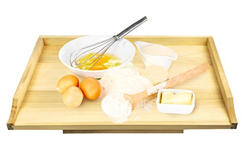 Großes Backbrett XL Teigbrett Nudelbrett Küchenbrett Arbeitsplatte Holz 65x50cm