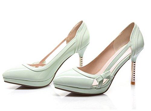 YE , chaussures compensées femme Vert