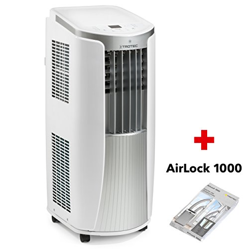 TROTEC Lokales mobiles Klimagerät Klimaanlage PAC 2010 E mit 2.1 kW / 7.200 Btu (EEK: A) 3-in-1-Klimagerät Inkl. Tür und Fensterabdichtung AirLock 1000