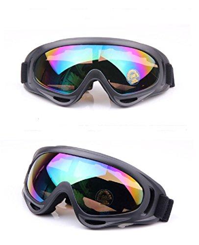 Manfa Occhiali Motocross Protezione Antipolvere sci e Snowboard Occhiali da sole per Sport Invernali bici da dirt e Fuori Strada Multicolor