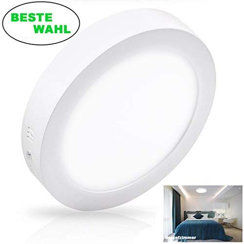 Deckenleuchte 24W, LED Panel Einbauleuchte, Kaltweiß Downlight, Deckenlampe Rund für Wohnzimmer, Schlafzimmer, Kinderzimmer, Küche, Flur