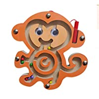 Gobus Colourful Wooden Mini Animals Shape Pen Driving Beads Maze Educational Toy Gift for Kids