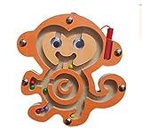 HappyToy Animal Mini varita magnética de madera redonda número...