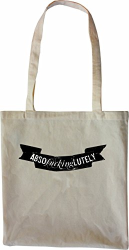 Mister Merchandise Tote Bag Absofuckinglutely Abso Fucking Lutely Borsa Bagaglio , Colore: Nero Naturale