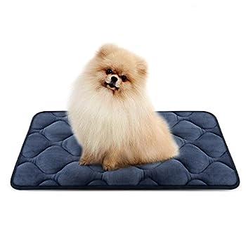 Tapis doux pour chien, Coussin de luxe et durable, Tapis antidérapant et lavable de chien Hero Dog (Gris, Petite)