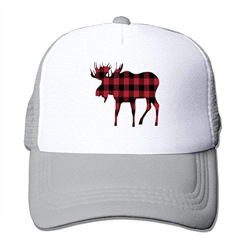 Miedhki Buffalo Plaid Moose Lumberjack Style Mesh Trucker Caps/Hats Adjustable for Unisex C6 - Buffalo Fitted T-shirt
