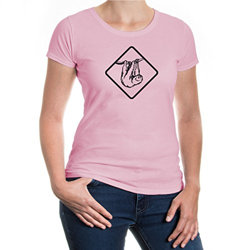buXsbaum® Girlie T-Shirt FAULTIER Lightpink-Black