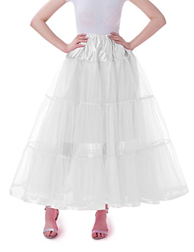 Tsygirls 1950's Petticoat Reifrock Unter Rock Unterrock Röcke Underskirt Crinoline Vintage Swing Oktoberfest Kleid Weiße Größe S-M (1950 Halloween Kostüm Ideen)