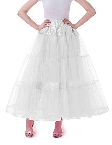Flamingo Selbstgemacht Kostüm Halloween (Tsygirls 1950's Petticoat Reifrock Unter Rock Unterrock Röcke Underskirt Crinoline Vintage Swing Oktoberfest Kleid Weiße Größe)