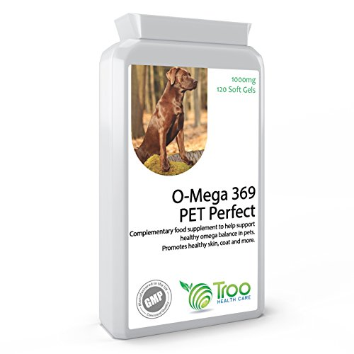Omega 3,6,9 Fish Oil Complex 1000mg with Vitamin E for Cats & Dogs, 120 Softgels – Supplement to Support Healthy Skin and Coat in Pets – UK Manufactured