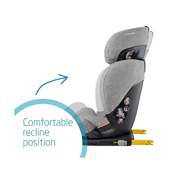 Maxi-Cosi RodiFix AirProtect Child Isofix Extra Protection Booster Car Seat, Nomad Grey, 15 - 36 kg, 3.5 - 12 Years Maxi-Cosi Booster car seat for children from 15-36 kg (3.5 to 12 years) Grows along with your child thanks to the easy headrest and backrest adjustment from the top Patented AirProtect technology for extra protection of child's head 4
