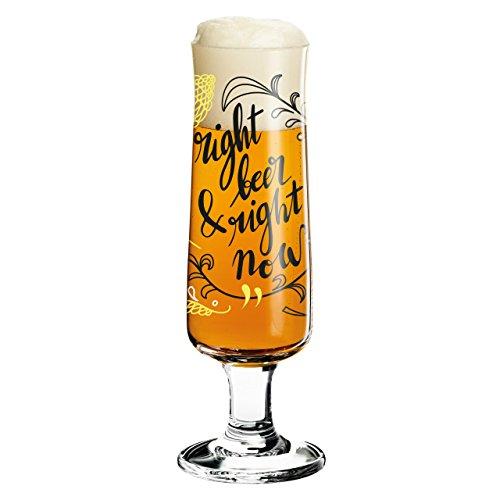 RITZENHOFF Beer Bierglas, Kristallglas, Schwarz, Weiß, Gelb, 5.5 cm