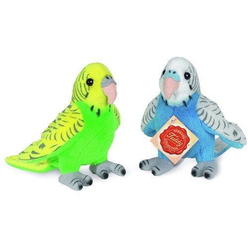 Plush Soft Toy Budgerigar by Teddy Hermann [Colours May Vary] by Teddy Hermann