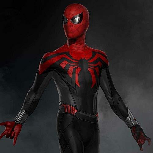 SEJNGF Spider-Man Siamesische Strumpfhose Cosplay Anime Spiel Charakter Leistung Kostüm Halloween Set (Kopfbedeckungen Können Getrennt ()