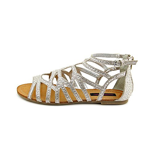80s Material Girl , Sandales pour femme silver