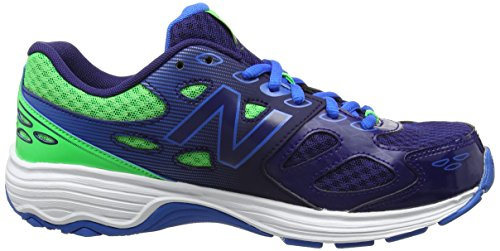 New Balance 680v3, Sneakers Basses Mixte Enfant Multicolore (Blue/green)