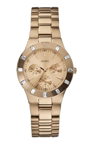Guess Analog Gold Dial Women's Watch - W16017L1 image