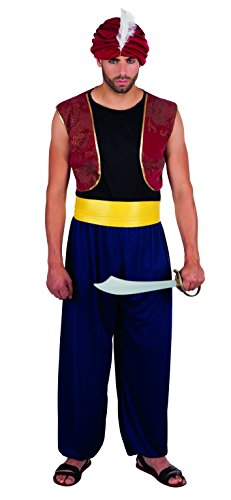 Sultan Das Kostüm - Boland 83839 Karnevalskostüm, blau, M/L