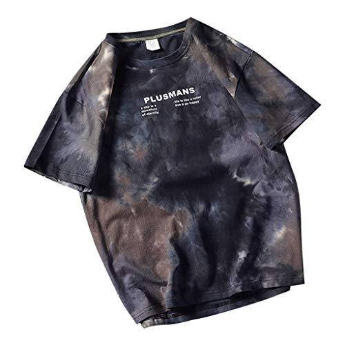 SHE.White Herren T-Shirts,2019 Modell Mode Persönlichkeit Tarnung Herren Beiläufig Schlank Kurzarm Hemd Top Bluse Sweatshirt Slim Fit T-Shirt Kurzarmshirt Oversize M-5XL (Schwarze Cowboys Des Alten Westens)
