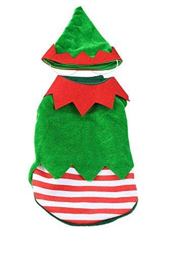 Midlee Klein groß Hund Elf Kostüm mit Mütze von (Elf Kostüm Aus Filz)