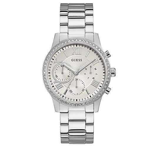 6bdb6d6e35bd Guess Reloj Analógico para Mujer de Cuarzo con Correa en Acero Inoxidable  W1069L1