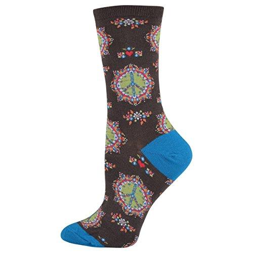 Socksmith Women's Socks Peace N Luv Crew 1Pair