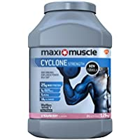 Maximuscle Cyclone Whey Protein and Creatine Powder, Strawberry, 1.26 kg