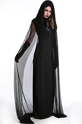 Bestwahl Hexe Vampir Kostüm Fasching Karneval Weiberfastnacht Fastnacht Kostüm Kleid Kleider DE LAGER (EU 42-44 (Vampir Ziel Kostüm)