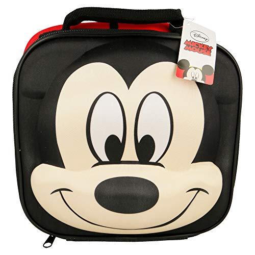 Disney Micky Maus Thermische 3D Schule Jausentasche, 28 cm, Rot