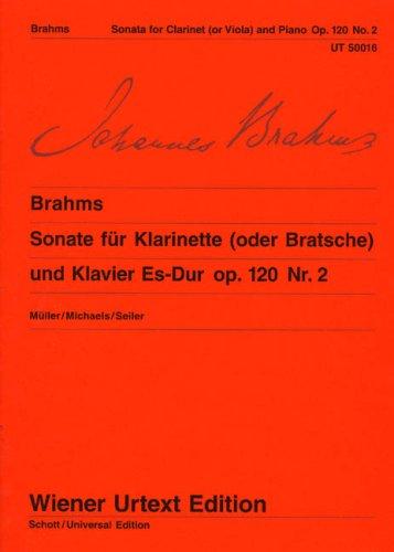 Sonate Es-Dur Op 120/2. Klarinette, Viola, Klavier