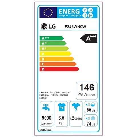 LG F2J6WN0W Lavatrice 6.5 Kg, Bianco (Ricondizionato)