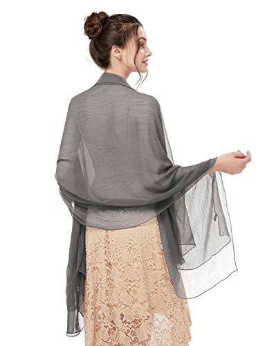 bridesmay Damen Strand Scarves 180CM*130CM Sonnenschutz Schal Sommer Stola für Kleider in 14 Farben Brown