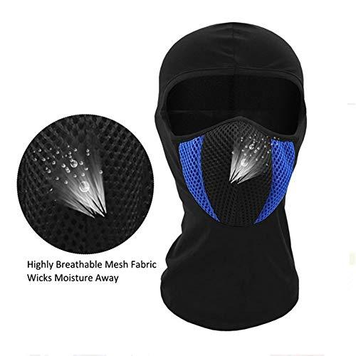 MICEROSHE Sicherheitsmaske Atmungsaktive Baumwolle Winddichtes Balaclava Winter warm Full Face Ski Mask (Farbe : Blau, Größe : Einheitsgröße)