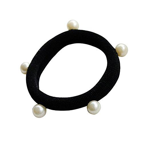 Lameida elastico ponytail titolari capelli folti capelli in tessuto elastico corda fascia semplice elastici con perla decorazione