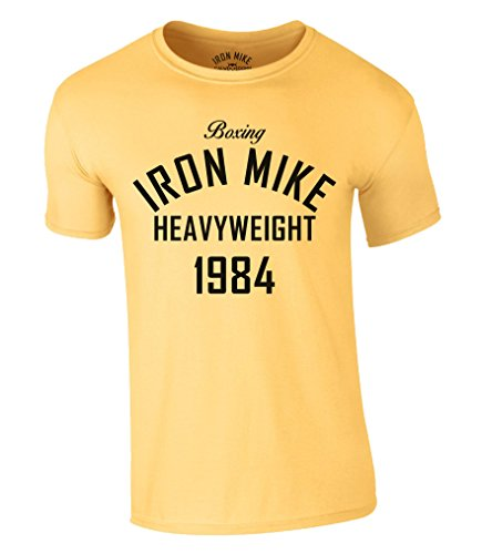 Boxing Iron Mike Heavyweight Olympic 1984 T-Shirt Mike Tyson (M, Gelb) (Tyson Mike T-shirt Iron)