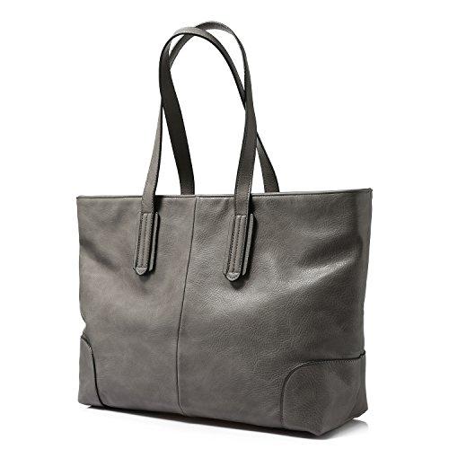Borse per borsa a tracolla di borsa della borsa delle donne grande capacità Grigio