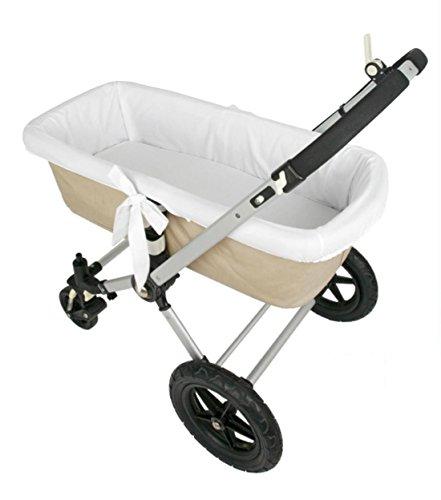 Preisvergleich Produktbild Danielstore Universeller Kinderwagen-Bezug, Weiß Weiß