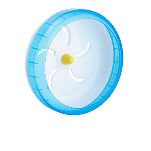 LA VIE Maus Ratte Lauf Übung Scroll Für Hamster Gerbil Meerschweinchen Kleines Haustier Kunststoff Laufrad 17.5cm Blau