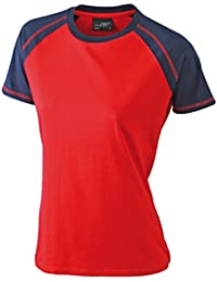 JAMES & NICHOLSON Tee-shirt de sport bicolore