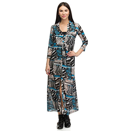 Oxolloxo Women Printed Shirt Dress  available at amazon for Rs.359