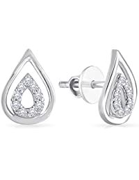 Malabar Gold and Diamonds 950 Platinum Stud Earrings for Women