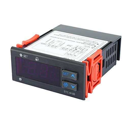 Ballylelly Für STC-9100 Temperaturregler Kühlraum Gefrierschrank Temperaturregler Kühlung Frostalarm Dual Sensor