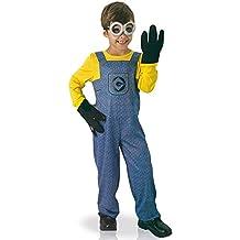 Enfant Deguisement Minion Moi Moche et Mechant Polyester, Bleue/Jaune