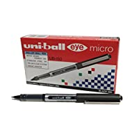 Uni-Ball 162545000 0.5 mm Nib UB-150 Eye Micro Rollerball Pen - Black (Pack of 12)