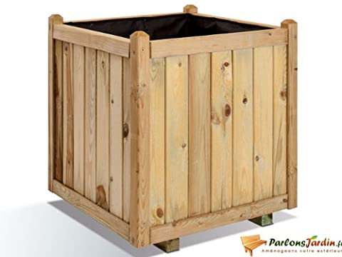 Jardinière carrée en bois maxi volume Vendôme 60