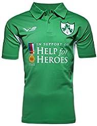 Help for Heroes Irlande - Polo de Rugby - Vert/Blanc